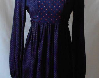 Vintage 1960s Polka Dot Young Edwardian by Arpeja Dress, Edwardian Dress, Arpeja, 1960s Women's Clothing, Vintage Dress, Polka Dots, Retro