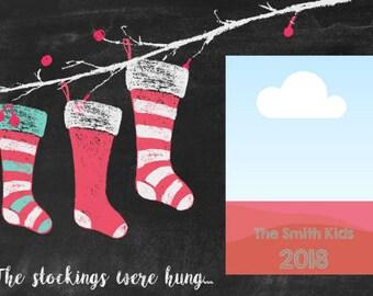 Chalk Stocking Photo Card
