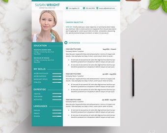 Modern CV Template Plus Cover Letter | Instant Download | One Page | 2 Page CV Template | Creative Design | Resume Template for Word