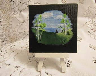 Lake Scene Acrylic