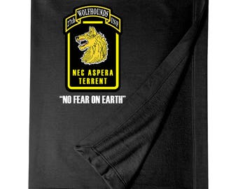"""27th Infantry Regiment """"Wolfhounds"""" Embroidered Blanket-6072"""