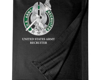 US Army Recruiter Embroidered Blanket-7761