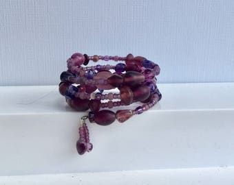 Purple Passion.  A Memory Wire Bracelet