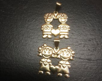 Boys and girls pendant