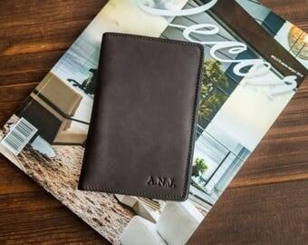 Personalized moleskine cover leather moleskine wallet personalized leather journal cover notebook cover pocket moleskine leather cover.