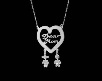 Personalize Mother Necklace - Custom Mom Necklace - Family Necklace - Personalize Mom Necklace - Custom Mother Necklace - Mother Gift - Wife