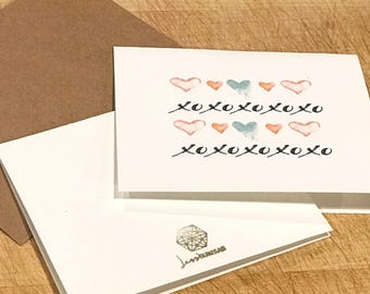 Watercolor | Greeting Card | Love | Valentines Day
