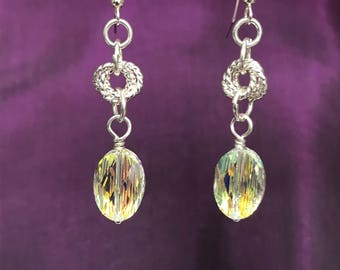 Chainmaille Clear Earrings