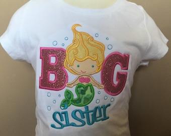 Personalized Big Sister Mermaid Shirt