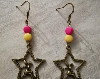 "Earrings ""Fairy on Star"""