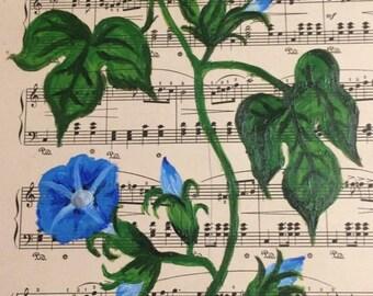 Flowers on Music Sheet