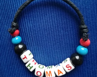 Coloured bracelet with Name