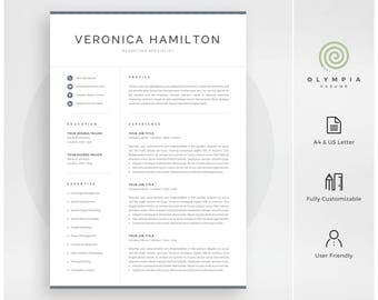 Professional Resume Template | Modern Resume Template For Word | Instant  Download | 1 And 2  Resume Templae