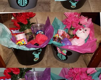 Personalized Valentine's baskets