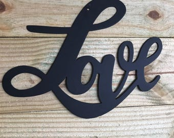 Love metal sign