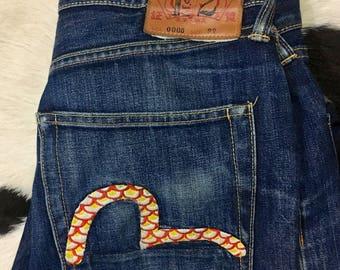 EVISU selvedge denim jeans