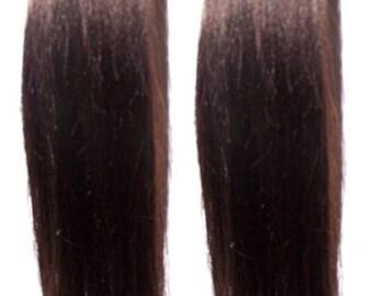 Dark Brown Hair Pigtails