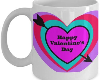 Valentineu0027s Day Mug, Gift For Girlfriend, Gift For Boyfriend, Unisex Gift,  Happy