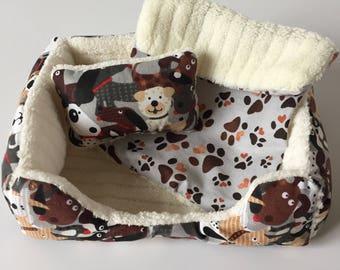 "Pet Bed for 18"" Doll Pet/3pc Pet Bed/Doll Pet Bed/Dog Buddies"
