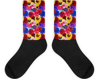 Flower Socks, Pretty Socks, Unique Socks, Custom Socks, Cool Socks, Gift Socks, Womens Socks, Mens Socks,