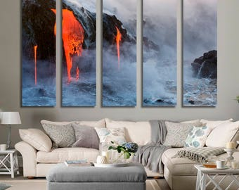 Lava Wall Art Lava Canvas Print Lava Large Wall Decor Lava Canvas Lava Poster Print Lava Home Decor Gift for She