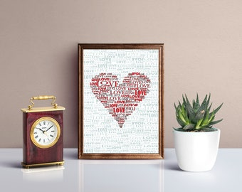 Love, Heart, Downloadable Art, Printable Art
