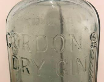 Vintage Glass Bottle - Gordon's Dry Gin London England