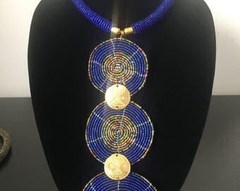 Blue Trifecta Necklace