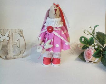 Интерьерная зайка interior doll handmade doll tilde textile  dolls for girls dolls toys for children handmade toys gift for children