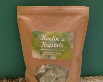 Green Apple Hard Candy Kaelin's Krystals Homemade Rock Candy