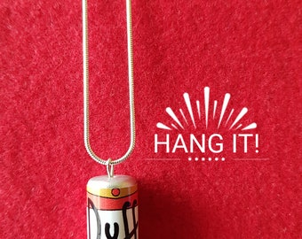 "Can of Duff Beer Necklace. The Simpsons Retro Kitsch 22"" Chain"