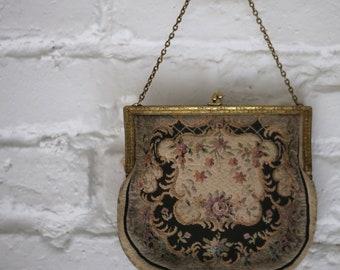 1950s tapestry handbag
