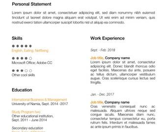 Modern Resume + Cover Letter Template | CV template | PowerPoint