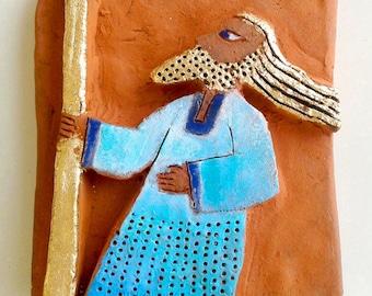 PROPHET.Ceramic sculpture,Bible figure,Ceramic figurine,Unique Ceramic Figurine,Art ceramic,modern ceramics,small ceramic wall art,Bible art
