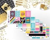 Super Girl Weekly Sticker Kit - Planner Stickers - Girl Power Stickers