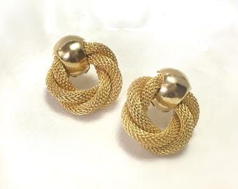 Classic Vintage Gold Stud Earrings
