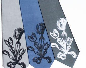 Venus Fly Trap Silk Tie