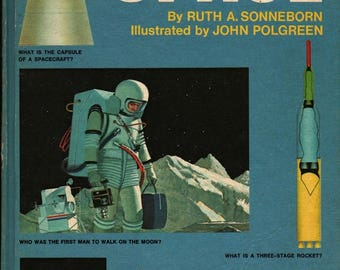 The Question and Answer Book of Space + Ruth A. Sonneborn + John Polgreen + 1970 + Vintage Kids Science Book