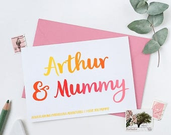 SALE Mummy And Me Personalised Mother's Day Card - Mummy Keepsake Card - First Mother's Day Card - Child And Mummy Card - Card For Mums