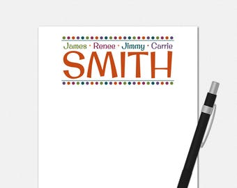 Family Billboard Notepad - Personalized Notepad for Family - Personalized Family Notepad - Family Stationery