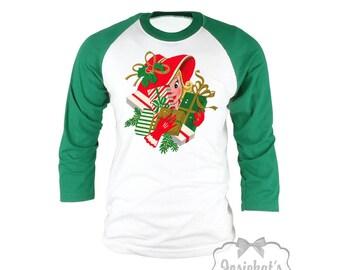 Christmas Shopping Shirt - Women Black Friday Shirt - Retro Shopping Shirt - !940s Christmas Woman - Size XS S M L Xl Xxl 3XL Adult Unisex