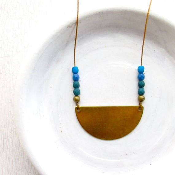 Reflection Necklace > Cobalt