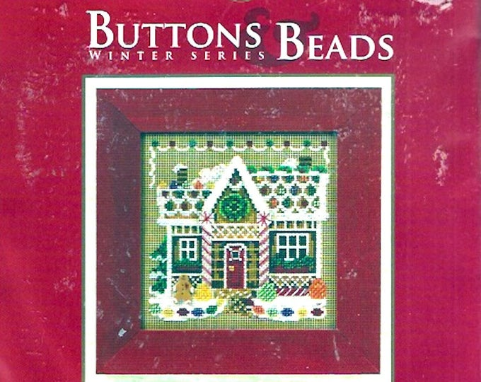 Gingerbread House Kit Buttons Beads Winter Series Christmas Design Holiday decor Xmas Mill Hill MH14-0306 DIY project