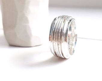 Sterling Silver Spinner Ring less wide