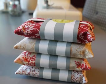 Set of 4 Strawberries & Cream Tissue Holders