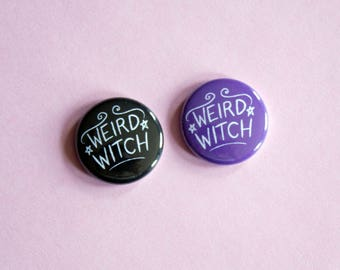 Weird Witch Button Choose One
