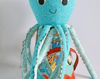 Brighton: octopus pattern, octopus toy, octopus PDF, octopus sewing, stuffed toy octopus, octopus plush PDF, octopus toy PDF,octopus softie