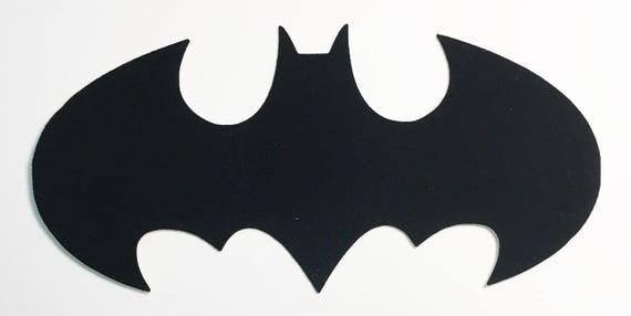 "Bat Batman Die Cut Black Velvet Cardstock - 5-1/2"" Size - Halloween Scrapbook Art Craft Embellishment Kids Comic Birthday Party Invitation"
