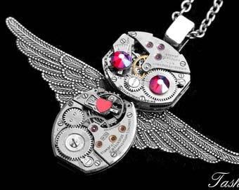 Owl Jewelry, Silver Owl Steampunk Necklace, Fashion Jewelry Gift