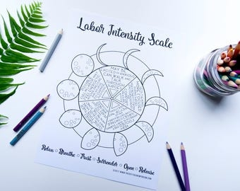 Labor Intensity Scale *Pain Scale Cover-Up* Coloring Page Digital Download
